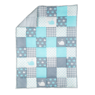 Plush Toddler Blanket - Soft Cot Comforter for Boys and Girls Pure Cotton Baby -