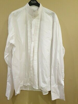 Vintage Manhattan evening dress shirt embroidered  mens Steampunk dagger collar