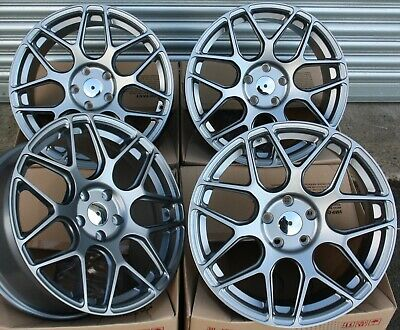"Alloy Wheels X 4 18"" Grey Mesh For Audi A4 A5 A6 A7 A8 Q3 Q5 Q7 Coupe"