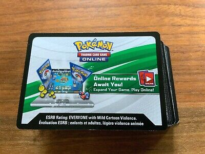 100 Sun Moon Team Up Pokemon TCGO PTCGO TCG Unused Code Cards