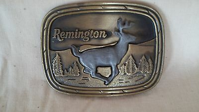 """Remington """"Running White-Tailed Deer"""" Buckle - NEW"""