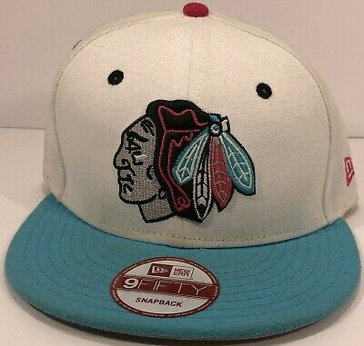 cheaper fb20a 6f7a0 Chicago Blackhawks White New Era 59FIFTY NHL Logo Adjustable SnapBack Hockey  Hat