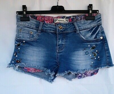 Short  Jeans Con Strass