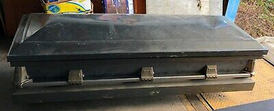Coffin Casket Steel Horror Haunted House Halloween Prop
