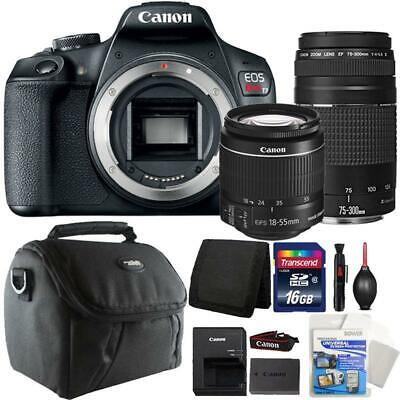 Canon EOS Rebel T7 DSLR Camera + 18-55mm Lens + 75-300mm Accessory Kit