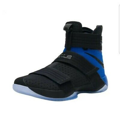 detailed look 38d0d 293cb NIKE LEBRON JAMES Soldier 10 - Size 9.5 Basketball Shoes Sneakers Black  Blue men
