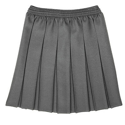 Girls Kids Box Pleat School Skirt Elasticated Waist  Kids School Uniform BNWT
