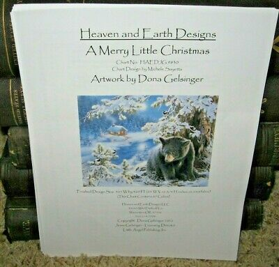 Heaven & Earth Designs~A Merry Little Christmas~Counted Cross Stitch Chart~Rare