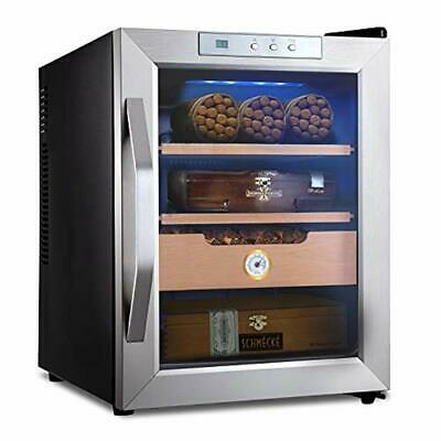 Schmécké 250 Cigar Thermoelectric Cigar Cooler Humidor with Stainless Steel Trim