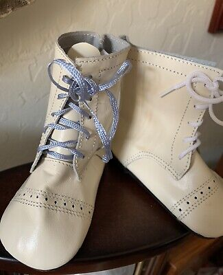 """NEW Old Stock 100/% LEATHER Doll Shoes 3/"""" German round toe doll shoe /& socks"""