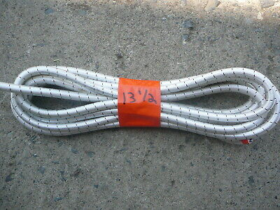 """White/Black Nylon Coated Rubber Rope Shock Cord 3/8"""" X 13 1/2' Discounted Bungee"""
