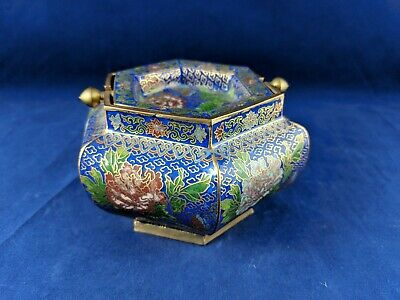 Chinese Cloisonne Two Piece Ashtray