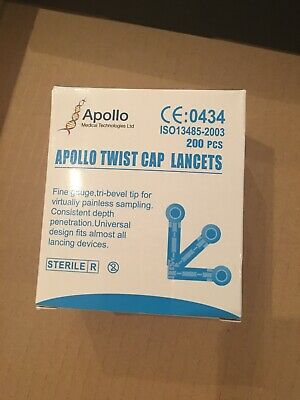 Apollo Twist Cap Lancets x 200
