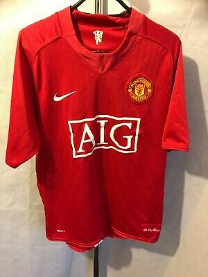 828721a14d9 MANCHESTER UNITED 2007 NIKE-AIG HOME SHIRT Size Large MAN UTD ...