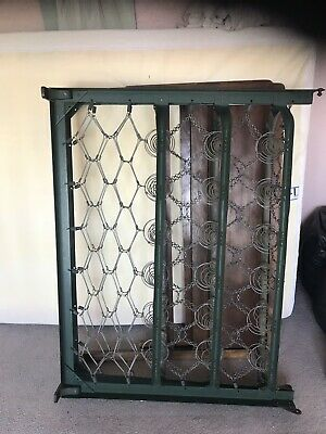 ANTIQUE OLD Folding Bed Frame WITH HEAVY METAL FRAME AND SPRINGS