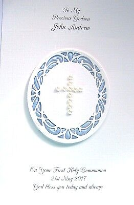 Personalised Confirmation, First Holy Communion, Baptism or Christening Card