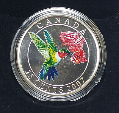 2007 Canada 25-Cent Coin - Ruby-Throated Hummingbird by RCM