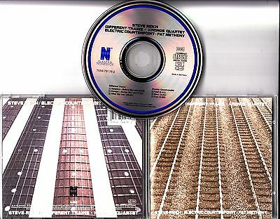 STEVE REICH Different Trains European SIGNED / AUTOGRAPHED CD + CoA Pat Metheny