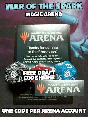War of the Spark Draft Code Magic Arena MtG from Prerelease Kit EMAIL