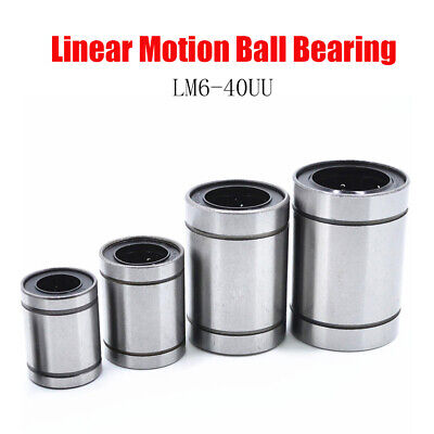 LM6-UU to LM40-UU Linear Bearing Motion Ball Bearings For Anet RepRap 3D Printer