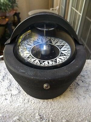 DIRIGO Binnacle Marine Boat Compass With Light & Cover Rare Dome Shaped Vintage