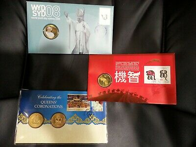 $1 Coin Lot, 2008 Year of the Rat, 2008 World Youth Day, 2013 Queens Coronations
