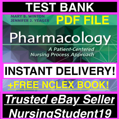 🔥TEST BANK🔥Pharmacology A Patient-Centered Nursing Process 9th Edition🔥+NCLEX