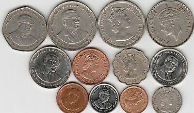 12 different world coins from MAURITIUS