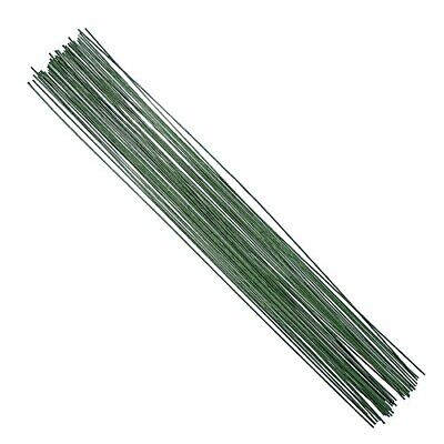 DECORA 18 Gauge Dark Green Floral Paper Wrapped Wire 16 inch, 50/Package