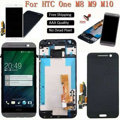 For HTC One M7/M8/M9 One M10 LCD Screen Display Touch Digitizer Replace+Frame