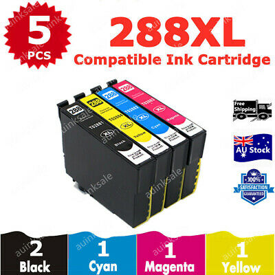 5x 288XL 288 XL Ink Cartridges for Epson Expression Home XP240 XP340 XP344 XP440