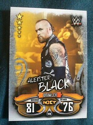 Slam Attax live card. WWE RAW Smackdown NXT Aleister Black