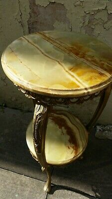 Vintage Onyx French Boroque style stunning 2 tier Jardiniere/Plant Stand 79cmx38