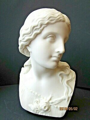 Antique Copeland 'Ceramic & Crystal Palace Art Union', Parian Bust - Love