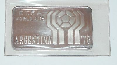 LINGOTTO ARGENTO 999 ARGENTINA 78 FIFA CUP one ounce FINE SILVER INGOT