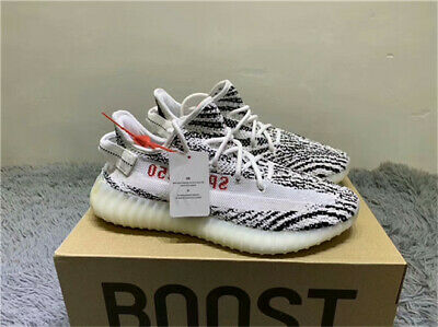 e6cdab55381f5 Great Quality Yeezy 350 V2 Zebra Boost Sneakers Size Uk 8.5 Us 9 Black White