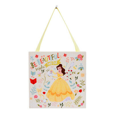 Disney Princess Belle Hanging Wall Door Plaque Beauty The Beast Girls Bedroom