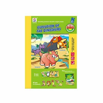 Kids Wooden Puzzle Educational Drawing Board Toy Magnetic Puzzle Drawing Board