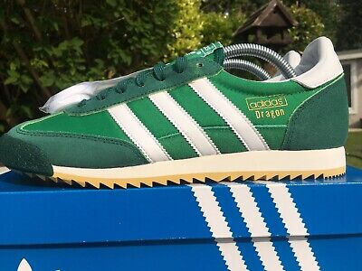 official photos ba620 f11f2 Adidas Dragon Vintage Green White Size 8 80s Football Casuals Deadstock