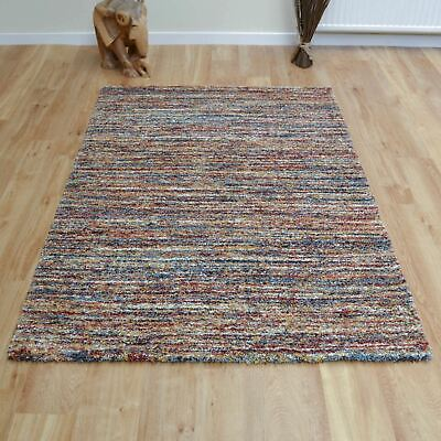 Extra Large-Small Thick Soft Modern Berber Style Shaggy Mehari  Rust Rugs 23067