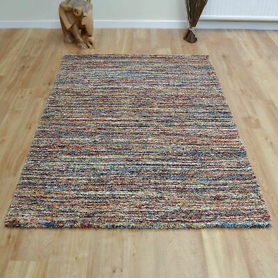 XXL-Large-Small Thick Soft Modern Berber Style Shaggy Mehari Rugs 23067 in Rust