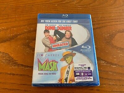 Dumb & Dumber / The Mask BLU RAY 2 PACK NEW AND SEALED JIM CARREY 90S