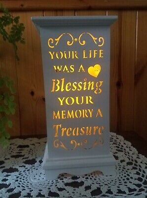 In Loving Memory LED Light Lantern Home Candle Holder Decoration