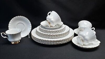 Royal Albert Val D'Or Set of Four 5 Piece Place Settings  Dor