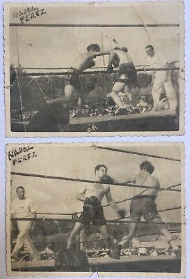 Lot 2 Foto Boxe Perez, Nadal, Toulouse, Stadio Huntziger, Sport, Occupazione Ww2