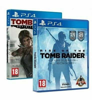 Tomb Raider Definitive Edition + Rise Of Tomb Raider Celebrazione 20 Anni Ps4 It