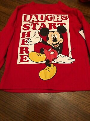 Mickey Mouse Clubhouse Red Long Sleeve  t-shirt size 3T NWT