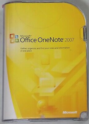 Microsoft Office OneNote 2007 (PC, 2007)
