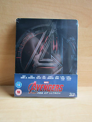 Brand New Sealed Marvels Avengers Age of Ultron 3D + 2D Steelbook UK Edition