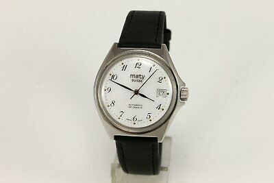 Excellent MATY SUISSE 25 Jewels ETA 2826 Automatic Swiss Dress Wrist Watch